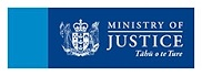 New Zealand Ministry of Justice logo.
